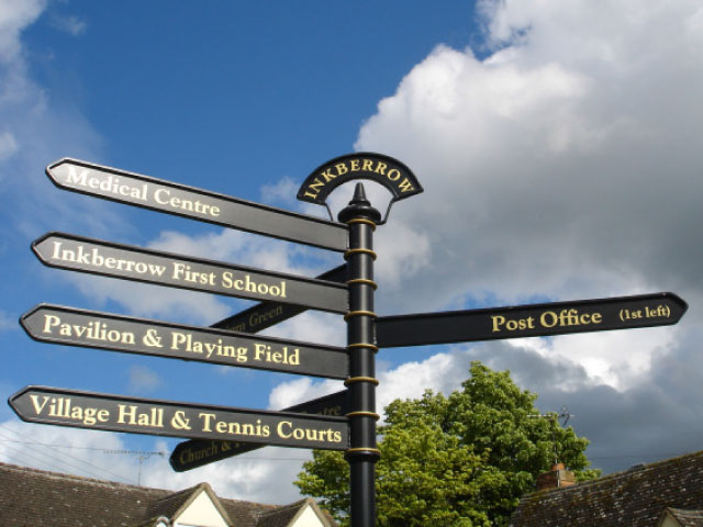 Inkberrow amenity signs